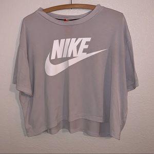 Nike women's light gray crop top
